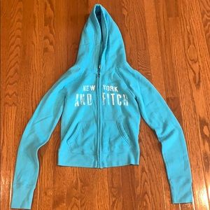 Abercrombie and Fitch zip up hoodie sweatshirt